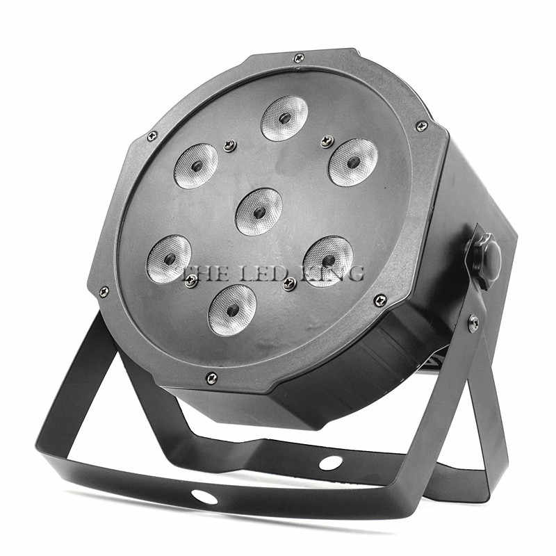 LED Stage Light Effect 7x18W RGBWA UV 6in1 Flat Par DMX512 DJ Disco Lamp KTV Bar Party Backlight Beam Projector Spotlight