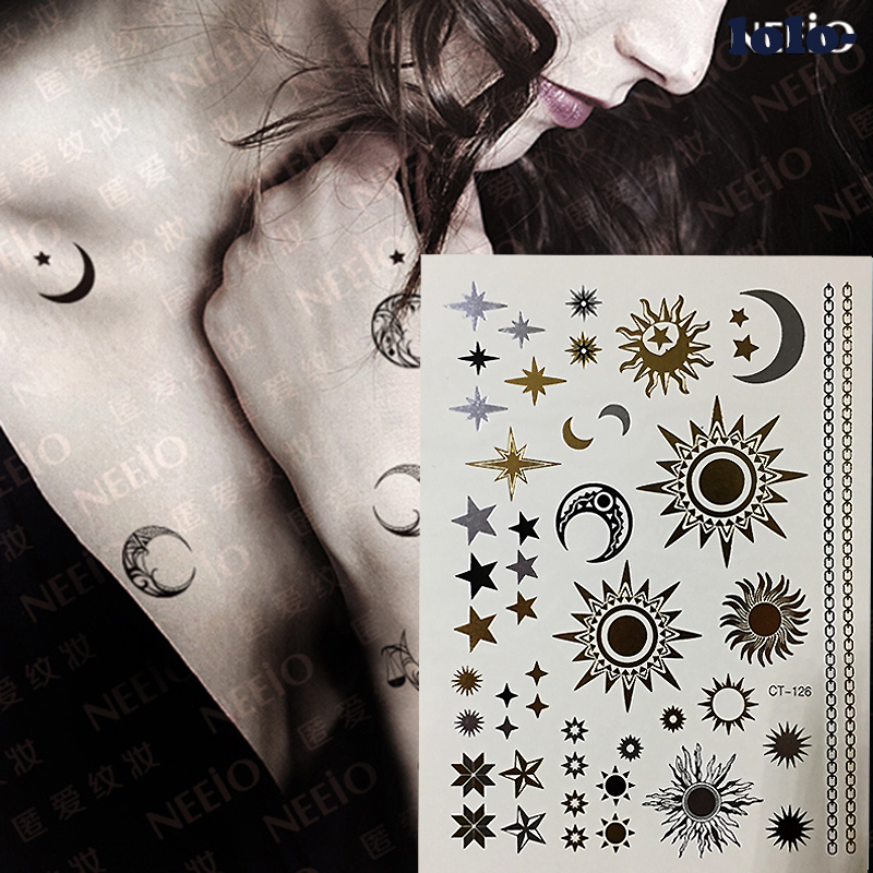 17 Waterproof temporary tattoos stickers sexy romantic dark rose flowers flash fenna tattoos fake body art Tattoo sleeve 8