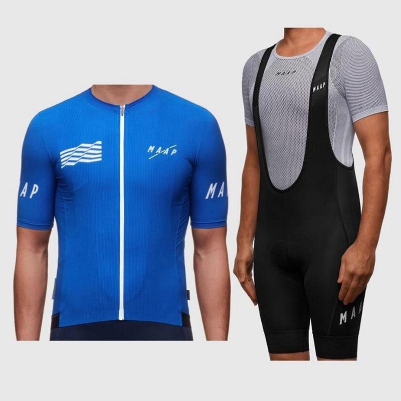2019 Mens MTB Bike Cycling Jersey Short Sleeve Bib Shorts Kits Team Clothing Set