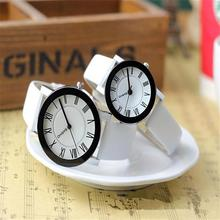 2016 Fashion Couple Lover PU Leather Band Mens Womens Quartz Wrist Watch Watches