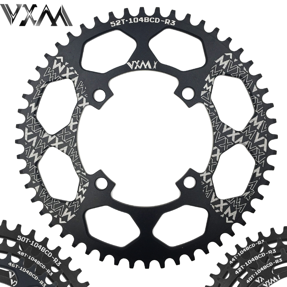 VXM Bicycle Aluminum Chainring 104BCD 40T 42T 44T 46T 48T 50T 52T Mountain Bicycle Chainwheel MTB Bike Crankset Bicycle Parts цены
