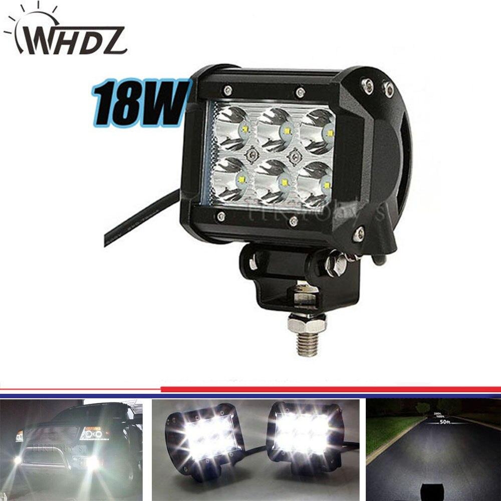 High Power Flood Spot Beam 4 18w LED Work Light Bar 1800Lm Offroad Lamp for SUV Boat 4x4 ATV Led Fog Driving Light 1pc