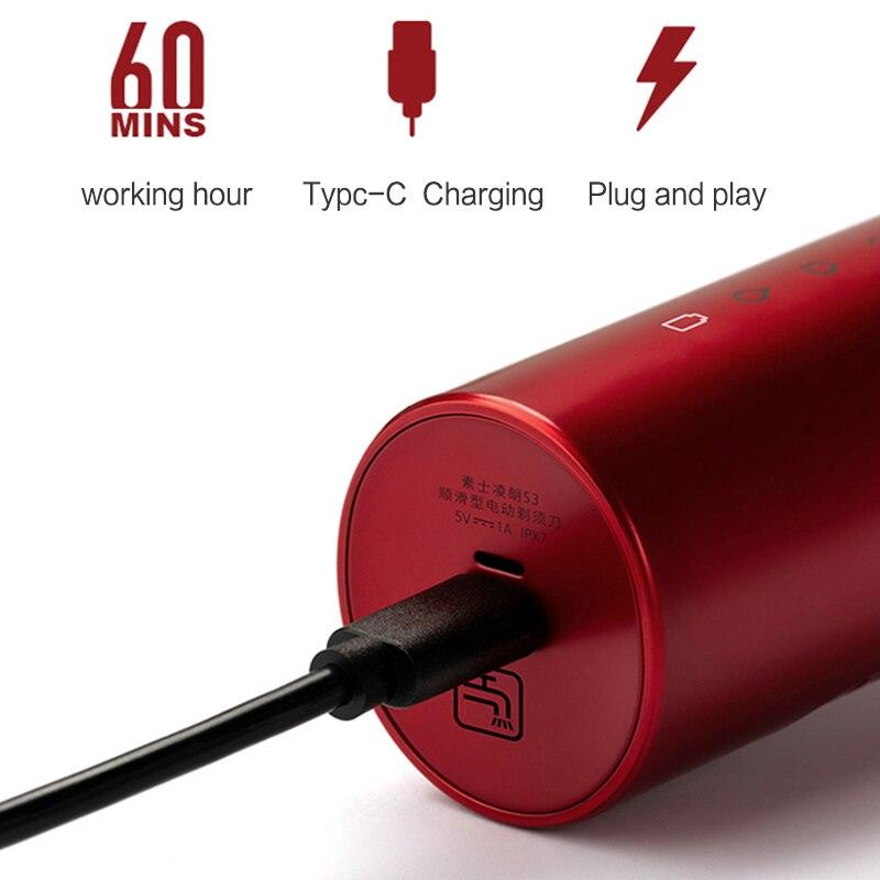 xiaomi SOOCAS S3 Electric Shaver electric Razor 3 cutter Head Dry Wet Shaving Smart USB Rechargeable Waterproof Razor men youpin 4