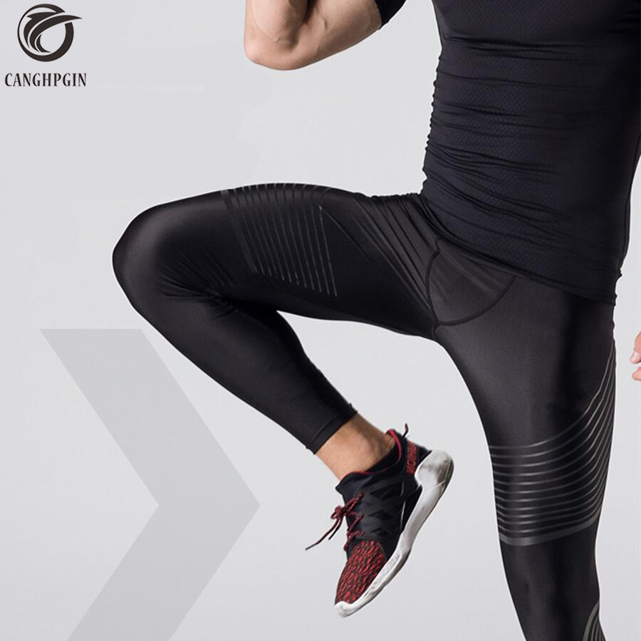 2018 Mens Compression Pants Skinny Leggings Running Pants Men Jogging Pants Bodybuilding Base Layer Tights Male Fitness Trousers