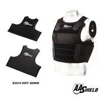 AA Shield BALCS Tactical Ballistic Vest Teijin Soft Body Armor Vest IIIA Carrier Kit Bullet Proof Vest Black Color Size M/L