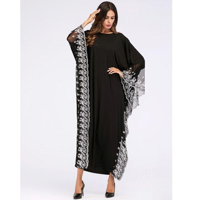 UAE Kaftan Abaya Dubai Indonesia Robe Arab Women Long Embroidery Muslim Hijab Dress Turkish Islamic Dress