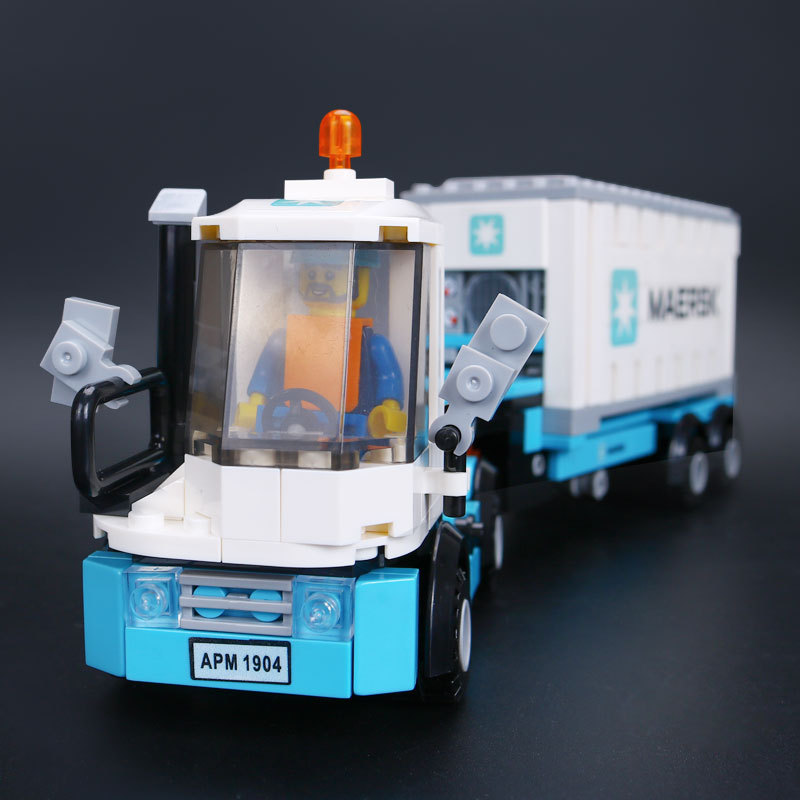 Lepin 21006 Creative Technic Ultimate Series The Maersk Train Set Building Blocks Bricks Educational Toys for Children lepin 21006 compatible builder the maersk train 10219 building blocks policeman toys for children