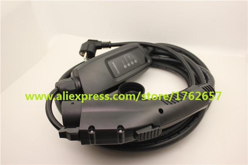 Sae j1772 EVSE input Duosida level 2 ev charger portable  16A schuko plug 5M Type 1 electric car Charging china