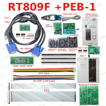 NIEUWE RT809F Programmeur Elektronische Kits LCD Universele EPROM FLASH VGA ISP AVR GAL PIC Programmeur + PEB 1 uitbreidingskaart + FFC Lijn