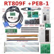 חדש RT809F מתכנת אלקטרוני ערכות LCD אוניברסלי EPROM פלאש VGA ISP AVR GAL PIC מתכנת + PEB 1 הרחבת לוח + FFC קו