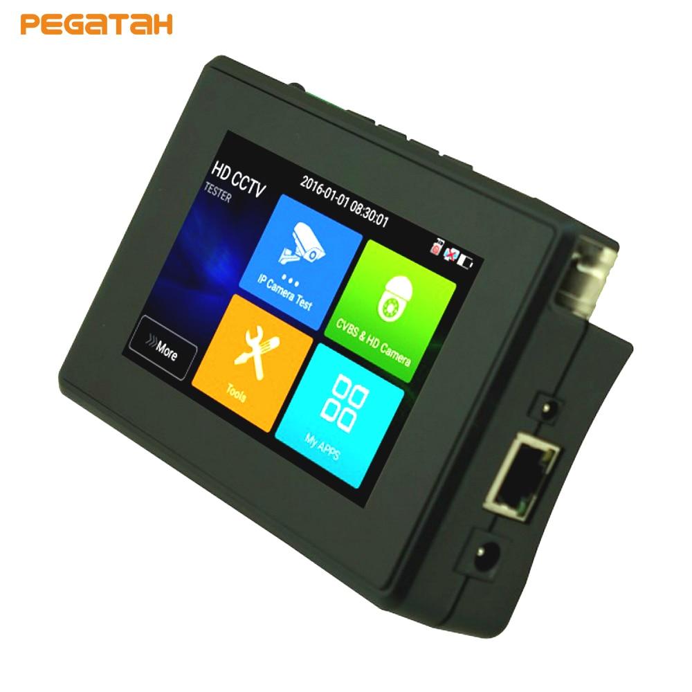 4 inch 5 in 1 4K IP Camera tester 5MP AHD TVI CVI 4K H.265 IP CVBS CCTV Security Camera tester with POE PTZ Control