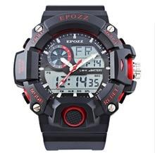 2016 el reloj del deporte LED electrónica reloj digital 50 M impermeable s choque relogio masculino esportivo reloj para hombre saat
