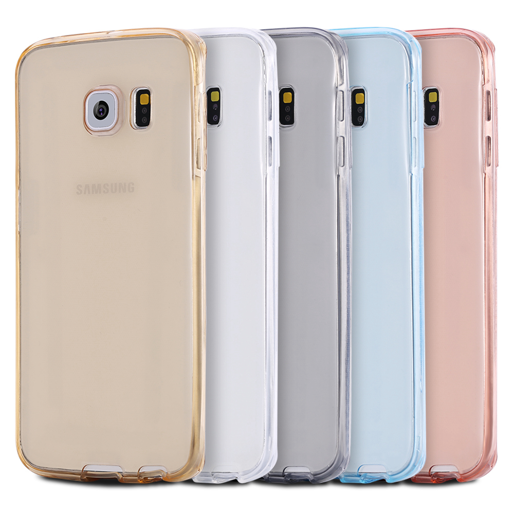 360 Degree Full Body Front Back Soft TPU Case Cover For Samsung Galaxy S6 S7 Edge Plus G9350 G9300 Note 4 5 A9 A8 A7 Aksesuar