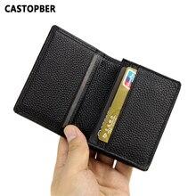 Мужской бизнес-держатель для карт из натуральной воловьей кожи, чехол для кредитных карт для мужчин, держатель для карт s, черный, высокое качество, известные сумки