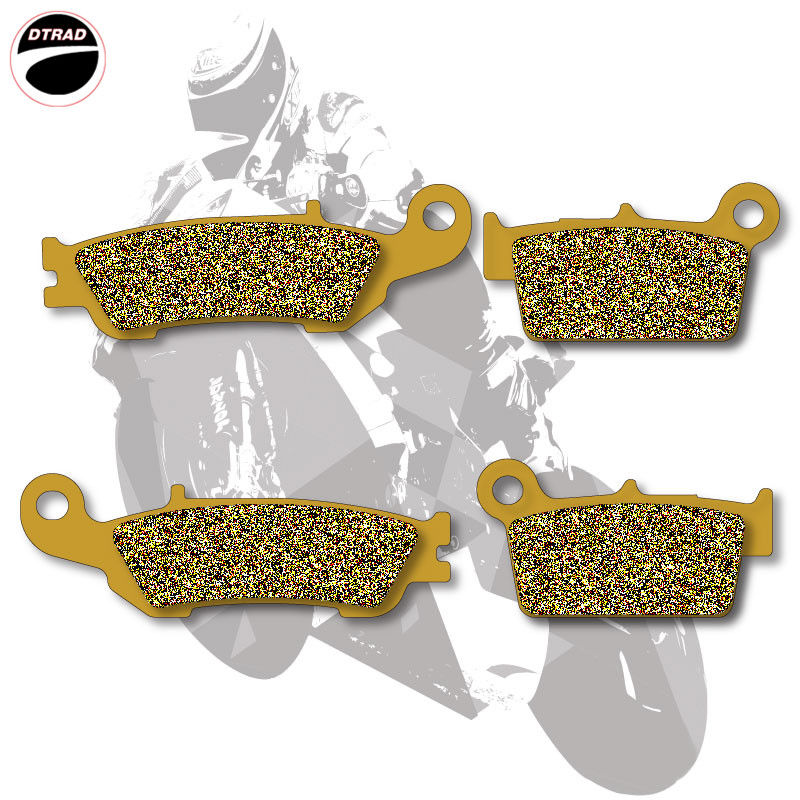 Motorcycle Brake Pads Front+Rear For YAMAHA YZ 125 08 13 YZ 250 07 13 YZ 450 08 13