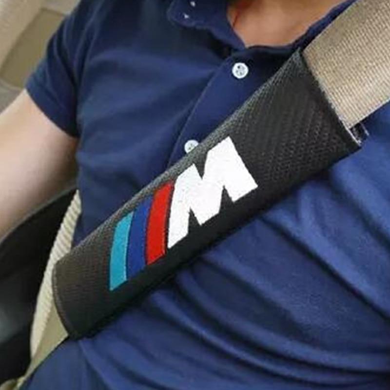 2pcs Car bon Fiber Seat Belt Cover Shoulder For E39 E46 E36 BMW E60 E90 F10 F30 F15 E63 E64 E65 E86 E89 E85 E91 X5 four seasons leather car interior pad front back seat cushion cover for bmw e36 e38 e39 e46 e52 e53 e60 e61 e63 e90 f30 f10