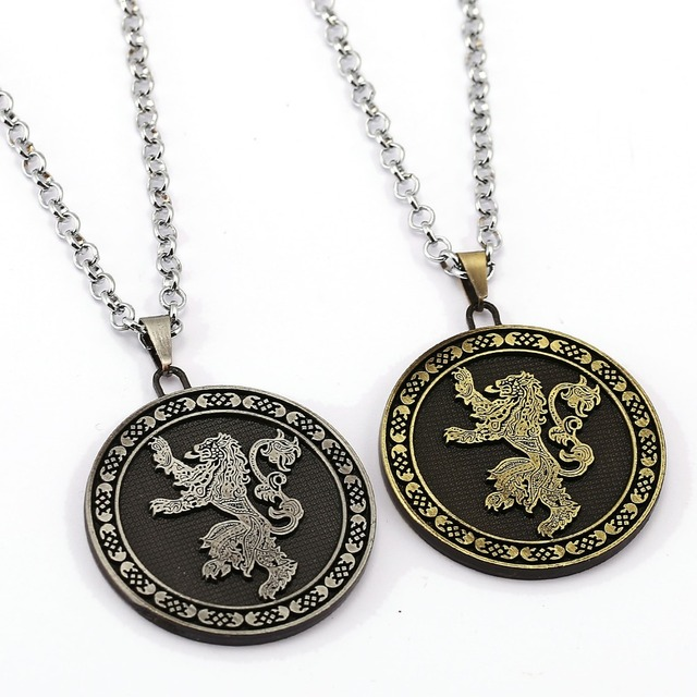 Trendy Stainless Steel Game of Thrones Pendant Necklace Jewelry