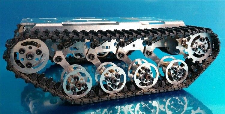 Smart Arduino Tank Track Suspension System System Alumini Alloy Tank - Lodra me telekomandë - Foto 3
