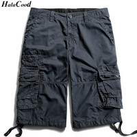 HALACOOD Mr Cargo Shorts Men Hot Sale Casual Camouflage Summer Brand Clothing Cotton Male Fashion Army