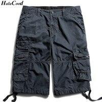 Mr HALACOOD Cargo Shorts Men Hot Sprzedaż Casual Kamuflaż Lato marka Bawełniane Ubrania Mody Męskiej Armii Pracy Szorty Mężczyźni Plus rozmiar
