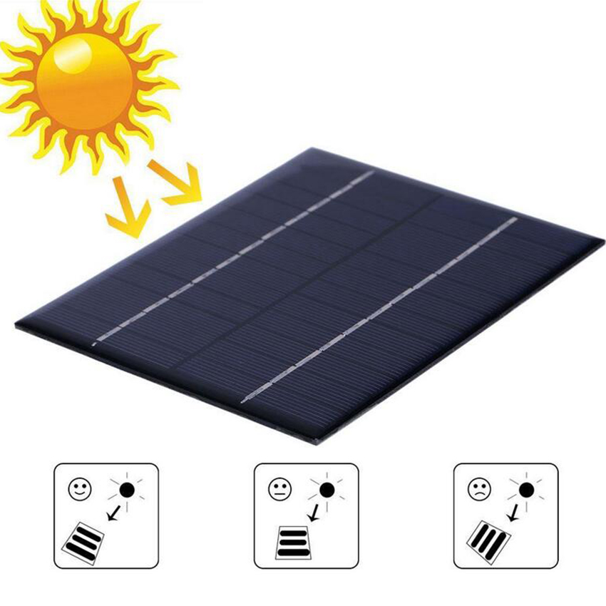 12V 2W 160mA Polycrystalline silicon Mini Solar Panel module Cell For Charger DC Battery DIY 136x110mm