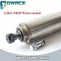 [EU/USA STOCK/Free VAT] 2.2KW ER20 220V Water Cooled Spindle Motor CNC ENGRAVING MILLING GRIND 80x213mm