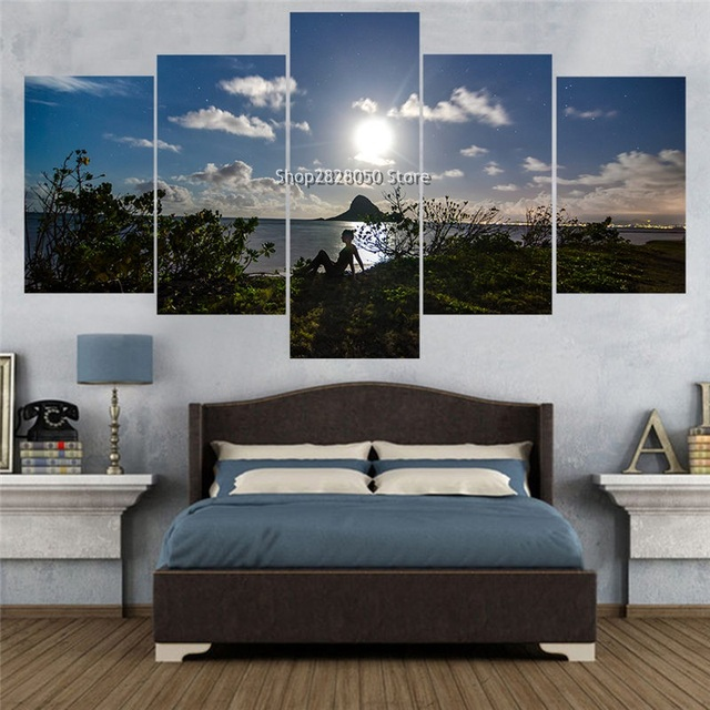 Multi Piece Canvas Wall Art The Sitting Room Joint Frameless Paintings  Fashion Marriage Wall Decorate Irregular