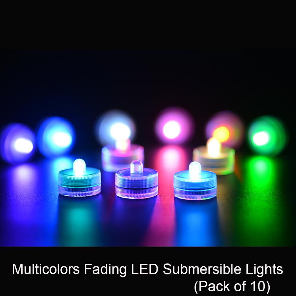 12pcs/lot Best Selling Factory Vendor Battery Led Submersible Lights For Party Wedding Decoration Christmas Halloween Lighting Lights & Lighting