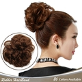 1PC Hair Chignon Elastic Donunt Fake Hair Bun Fashion Bridal Chignon Synthetic Postiche Extension Chignons For Pretty Girl