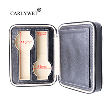 цена на CARLYWET Portable 4 Grids Luxury PU Leather Showing Display Wrist Watch Collector Storage Box Case Holder Tray For Rolex Omega