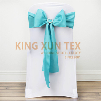 50pcs Polyester Fabric Chair Sash Chair Tie Bow For Banquet Wedding Decoration
