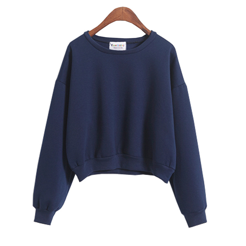 COTTON O NECK CASUAL DARK BLUE WHITE PINK LIGHT BLUE GRAY PLAIN ...