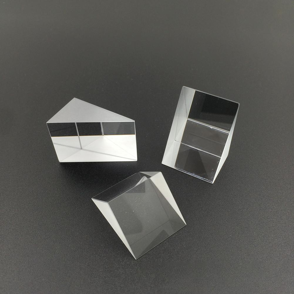 10mm*10mm*10mm Optical Glass Triangular Prisms Right Angle Isosceles Prisms Lens Optical K9 Glass Material Testing Instrument#15