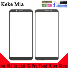 Keke Mia 6.0 inch 100% New Original For UMI Umidigi S2 Pro Front Outer Glass Touch Screen Touch Panel Lens Replacement scn a5 flt15 0 z02 0h1 r 15 inch touch glass panel new