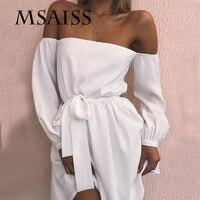 MASAISS женское летнее сексуальное платье с открытыми плечами пояс дамское платье Черное вечернее платье для ночного клуба
