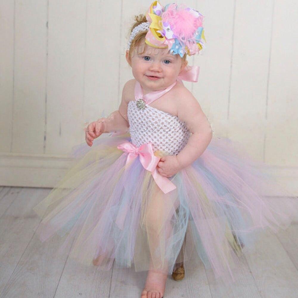 18915eb5e Princess Tutu Easter Pastel Baby Dress Pastel Colors Newborn Toddler ...