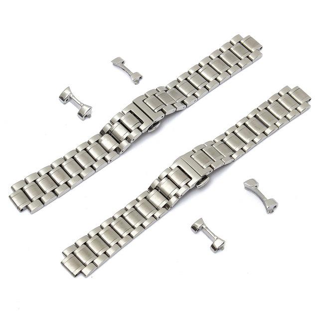 Melhor Promoção Sliver Assista straps 19mm/20mm Aço Inoxidável Relógio para Banda Homens Série Alça de Extremidade Curva