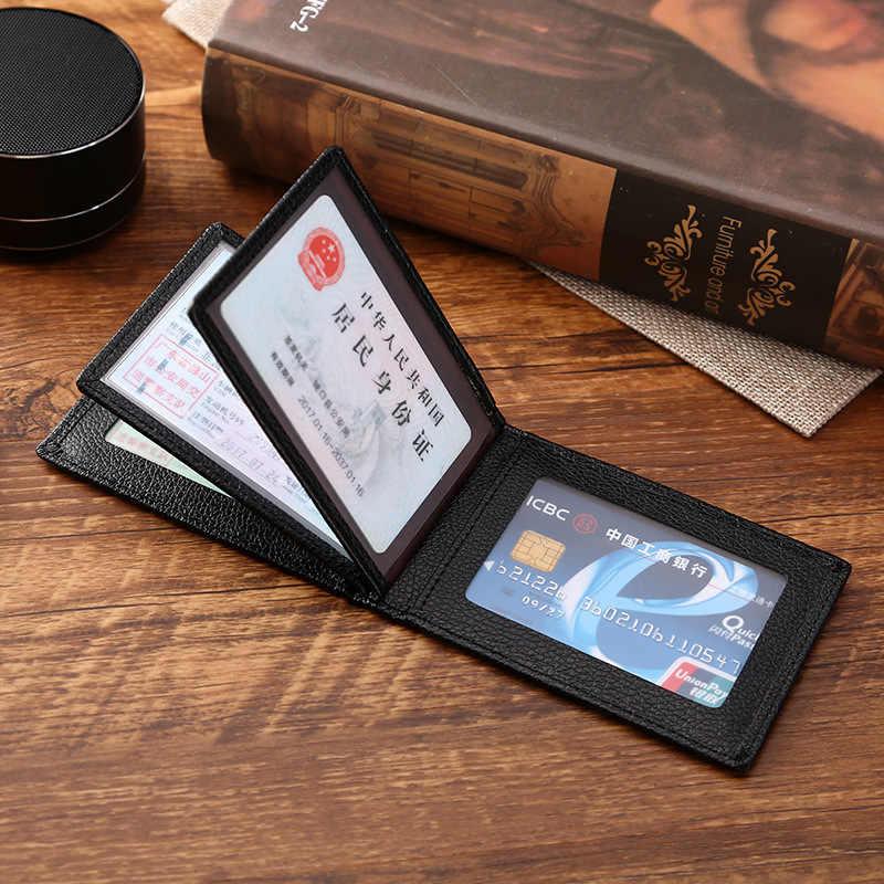 Ultra - บาง Driver ใบอนุญาตผู้ถือหนัง Pu สำหรับรถเอกสารการขับขี่ธุรกิจ ID Pass ใบรับรองกระเป๋าสตางค์กระเป๋าสตางค์ unisex
