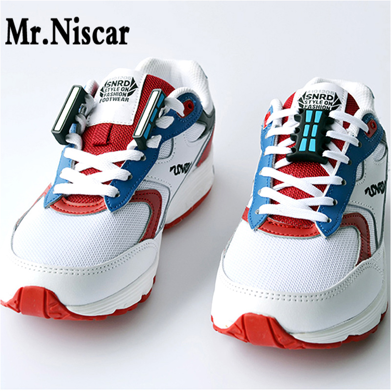 Mr.Niscar 1 Pair Glowing Magnetic Buckles Casual Sneaker Magnetic Luminous No-Tie Shoe Laces Buckles Closure Shoelaces Buckles