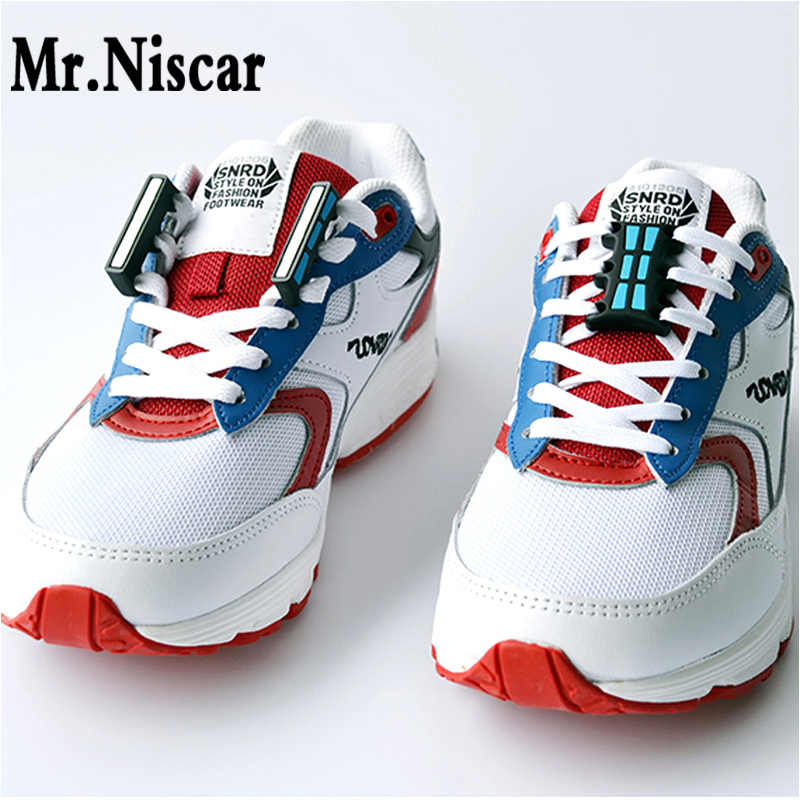 Mr.Niscar 1 Pair Glowing Magnetic Buckles Casual Sneaker Magnetic Luminous No-Tie Shoe Laces Buckles Closure Shoelaces Buckles