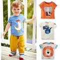 Новый 2017 Летом 100% Хлопок Мальчиков Одежда для Детей одежда Дети Малышей Тис футболки С Коротким Рукавом Футболки Ребенка мальчики