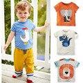 Nova marca 2017 Meninos Roupas de Verão 100% Do Bebê Do Algodão Crianças roupas Crianças T-shirt t-shirts de Manga Curta T-shirt Do Bebê Da Criança meninos