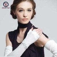 CHING YUN a forma das mulheres de ultra longo luvas metade do dedo luvas de protecção solar das mulheres anti-uv condução slip-resistente Braço da senhora meninas da luva