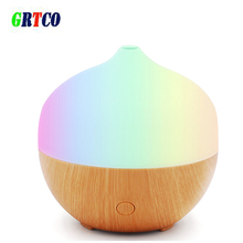 GRTCO Aroma Essential Oil Diffuser Wood Grain Ultrasonic Cool Mist Humidifier for Office Home Bedroom LivingRoom Study Yoga Spa