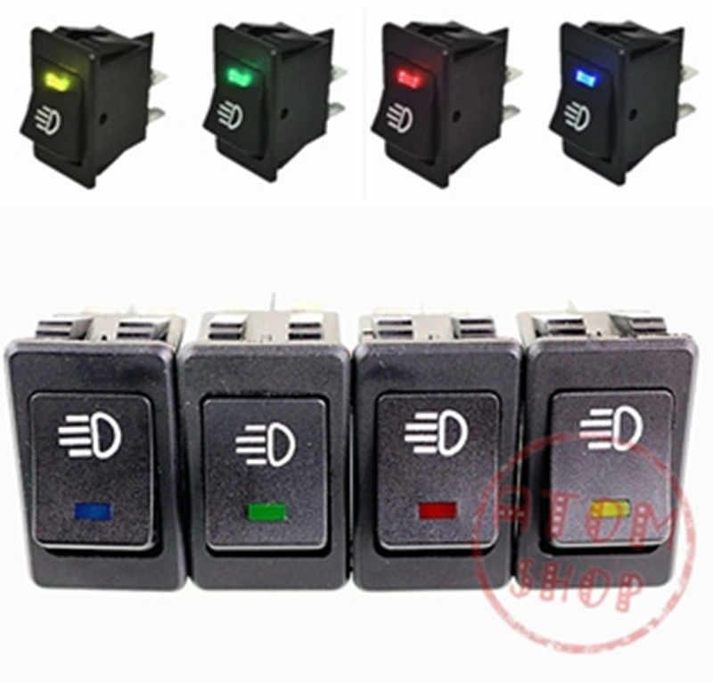 LED auto switch / modification / /12V 35A fog lamp switch rocker switch rocker switch blue