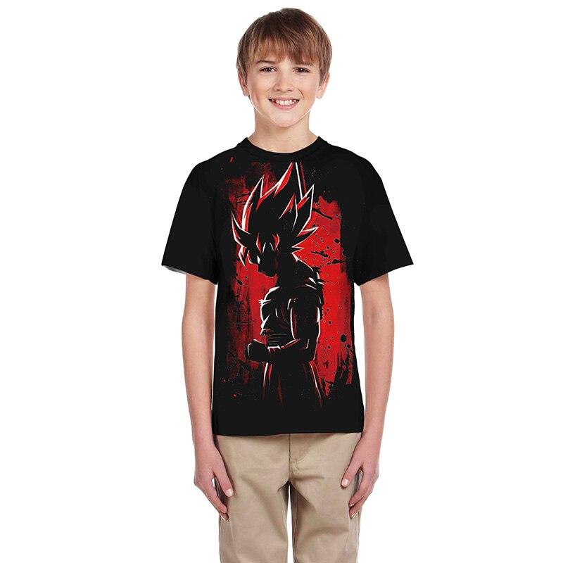 verão 2019 dragon ball t camisa crianças