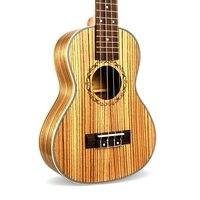 Acoustic Ukulele 23/26 inch Concert Zebra wood Hawaiian 4 Strings Guitar Electric Ukelele music instrument with Pickup EQ