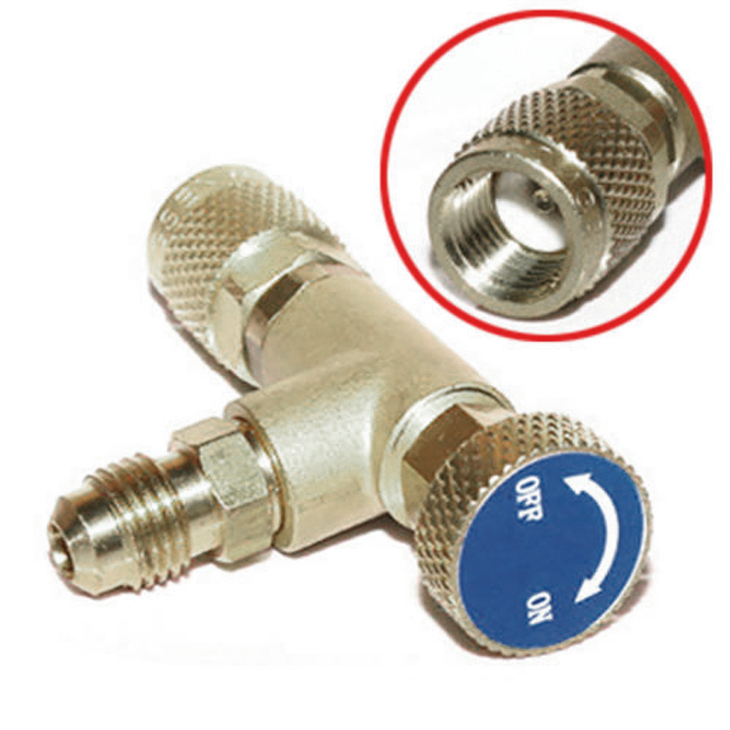 1Pc Refrigeration Air Conditioning Charging Valve Adapter 1/4''-5/16'' R410 R32 Copper Control Valve Refrigerant Charging Hose