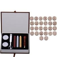 Initial Letter Vintage Alphabet Wax Badge Seal Stamp Wax Stick Kit Set Letter A Z Optional