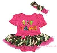 Personalize Custom 1ST Birthday Baby Name Bodysuit Camouflage Girls Dress NB 18M MAJSA0659